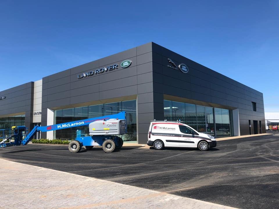 Jaguar Land Rover dealership showroom 1